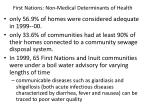 first nations non medical determinants of health