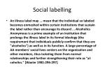 social labelling