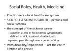 social roles health medicine