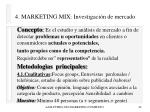 4 marketing mix investigaci n de mercado