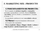 5 marketing mix producto