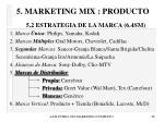 5 marketing mix producto28