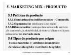 5 marketing mix producto29