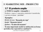 5 marketing mix producto34
