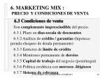 6 marketing mix precio y condiciones de venta40