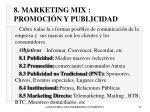 8 marketing mix promoci n y publicidad