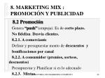 8 marketing mix promoci n y publicidad49