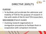 directive 2005 714