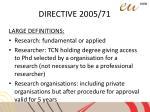directive 2005 715
