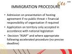 immigration procedure