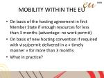mobility within the eu