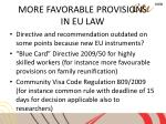 more favorable provisions in eu law