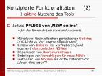 konzipierte funktionalit ten 2 aktive nutzung des tools