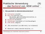 praktische verwendung 9 das backend von nsw online