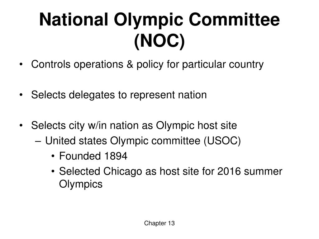 National Olympic Committee (NOC)