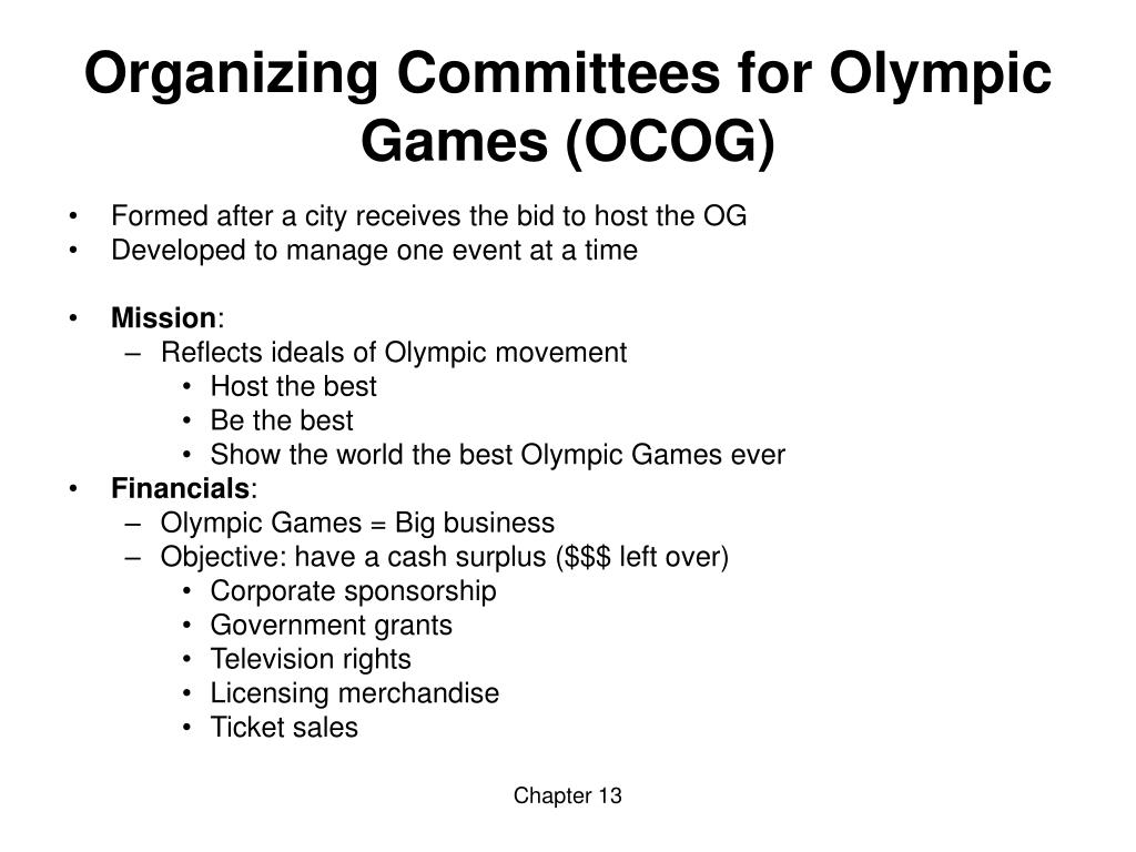 Organizing Committees for Olympic Games (OCOG)
