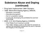 substance abuse and doping continued