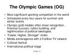 the olympic games og