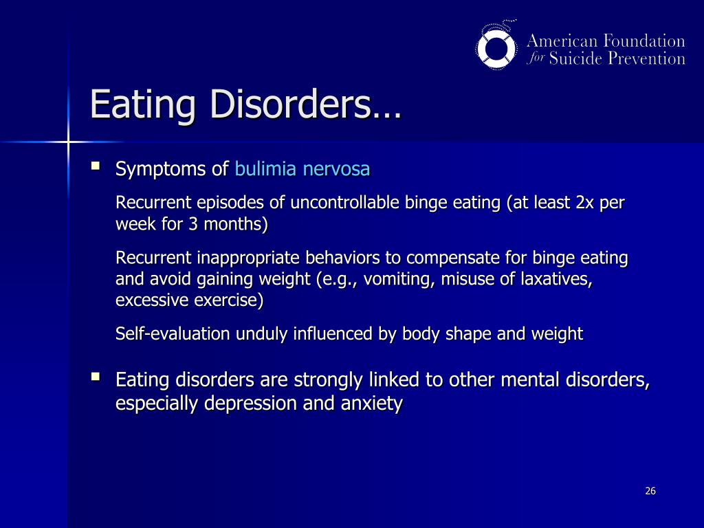 Eating Disorders…