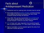 facts about antidepressant medication