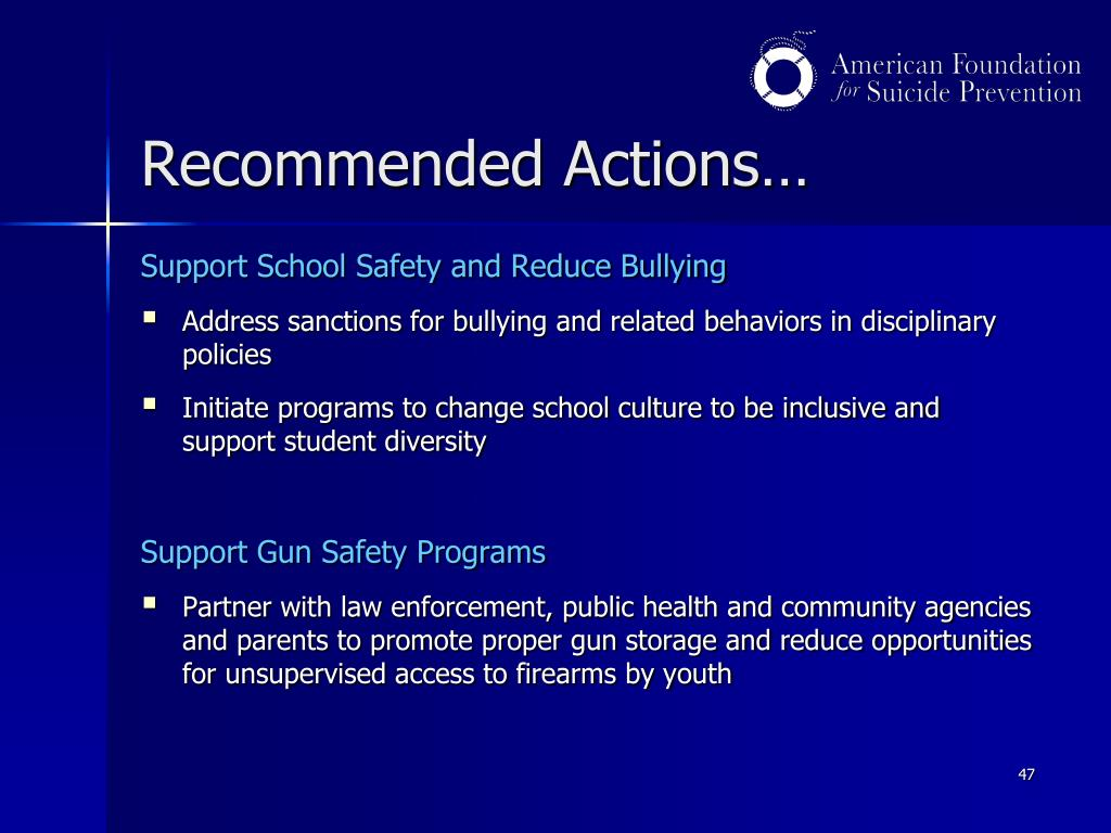 Recommended Actions…