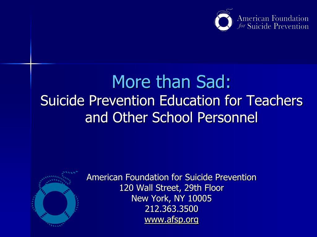 More than Sad: