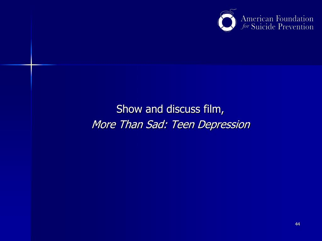 Show and discuss film,