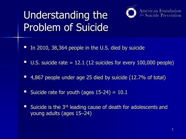 Understanding the problem of suicide