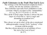 faith culminates in the truth that god is love9