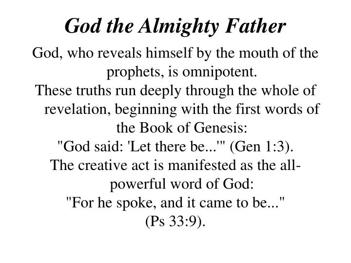 God the Almighty Father