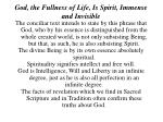 god the fullness of life is spirit immense and invisible3