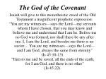 the god of the covenant8