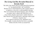 the living god has revealed himself as eternity itself2