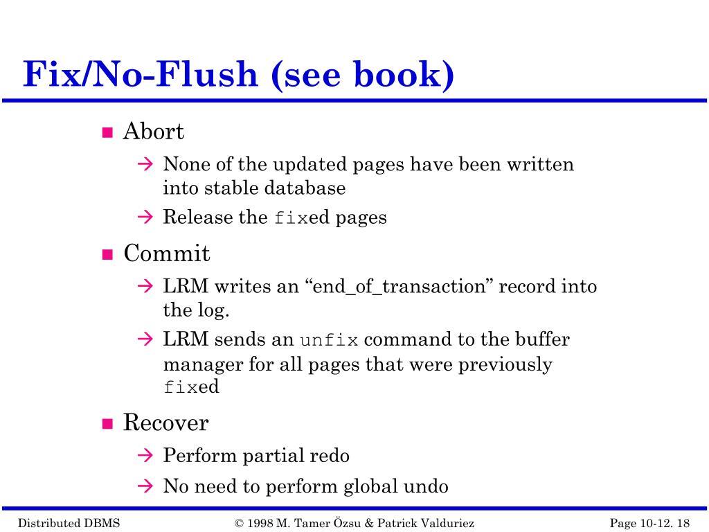 Fix/No-Flush (see book)