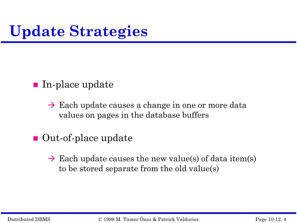 Update Strategies