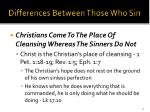differences between those who sin27