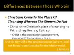 differences between those who sin29
