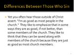 differences between those who sin3