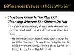 differences between those who sin30