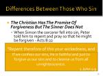 differences between those who sin35