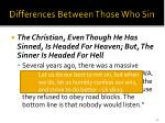 differences between those who sin40
