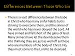 differences between those who sin43