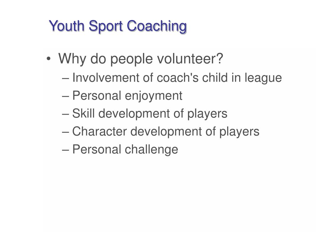 Youth Sport Coaching