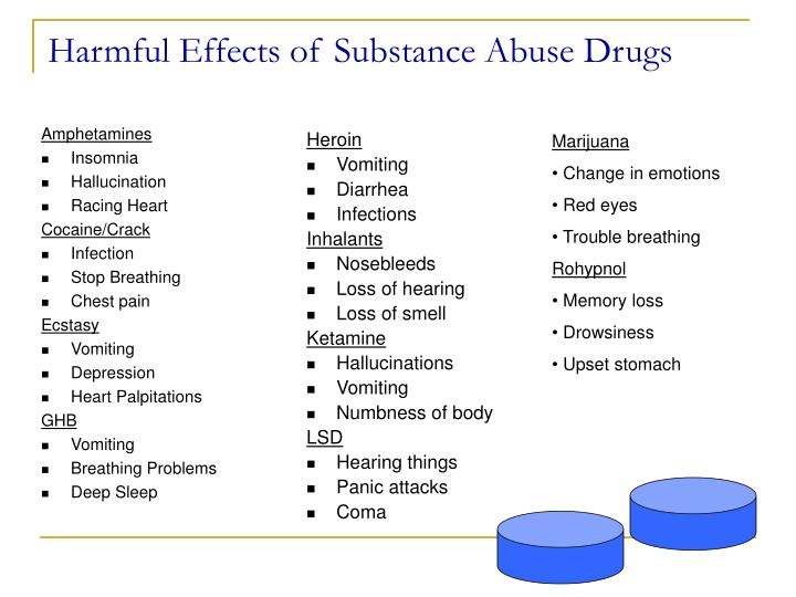 harmful effects of substance abuse drugs n.