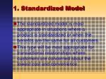 1 standardized model7