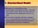 1 standardized model8