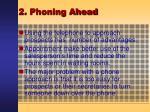 2 phoning ahead