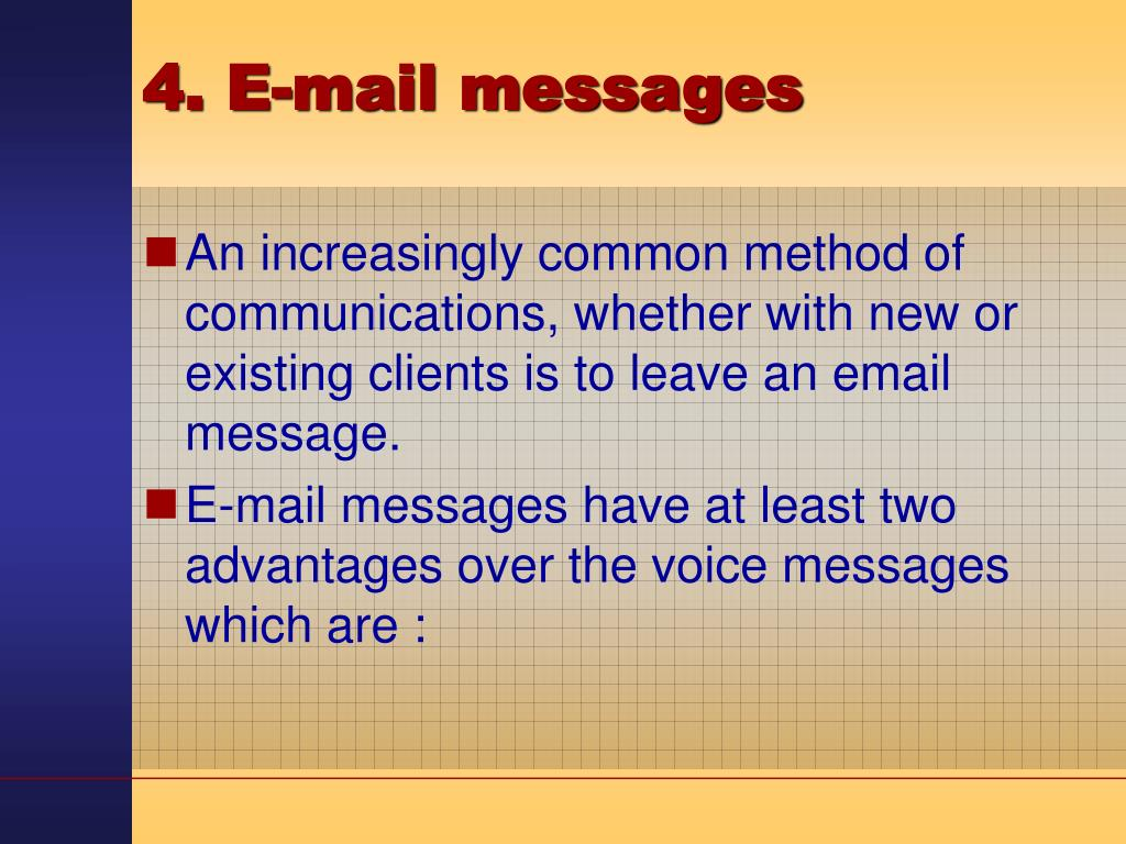 4. E-mail messages