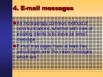 4 e mail messages