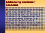 addressing customer concerns